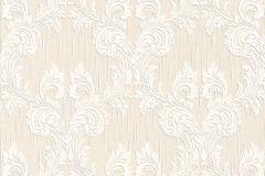 95630-7 cikkszámú tapéta.Barokk-klasszikus,különleges motívumos,természeti mintás,valódi textil,virágmintás,fehér,narancs-terrakotta,gyengén mosható,vlies tapéta