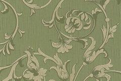95633-4 cikkszámú tapéta.Különleges motívumos,természeti mintás,valódi textil,virágmintás,vajszín,zöld,gyengén mosható,vlies tapéta