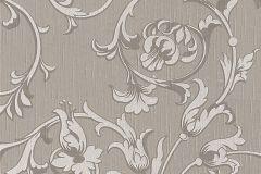 95633-6 cikkszámú tapéta.Barokk-klasszikus,különleges motívumos,természeti mintás,valódi textil,virágmintás,szürke,gyengén mosható,vlies tapéta
