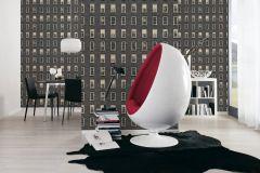 32884-2 cikkszámú tapéta.Kőhatású-kőmintás,különleges felületű,retro,fekete,szürke,vajszín,súrolható,papír tapéta