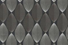 34067-1 cikkszámú tapéta.Geometriai mintás,retro,fekete,szürke,súrolható,papír tapéta