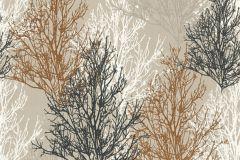 34819-3 cikkszámú tapéta.Csillámos,különleges felületű,retro,természeti mintás,bézs-drapp,fehér,fekete,narancs-terrakotta,lemosható,papír tapéta