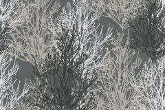 34819-4 cikkszámú tapéta.Csillámos,különleges felületű,retro,természeti mintás,fehér,fekete,szürke,lemosható,papír tapéta