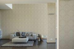 34860-1 cikkszámú tapéta.Barokk-klasszikus,csillámos,különleges felületű,arany,bézs-drapp,lemosható,papír tapéta