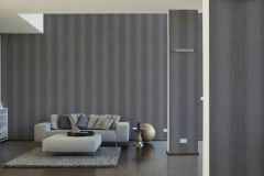 34861-4 cikkszámú tapéta.Csíkos,csillámos,különleges felületű,ezüst,fekete,szürke,lemosható,illesztés mentes,papír tapéta