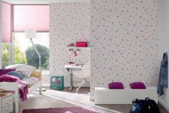 35750-2 cikkszámú tapéta.Gyerek,különleges felületű,különleges motívumos,ezüst,fehér,pink-rózsaszín,lemosható,illesztés mentes,papír tapéta