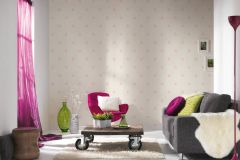 35991-5 cikkszámú tapéta.Csillámos,gyerek,fehér,pink-rózsaszín,lemosható,papír tapéta