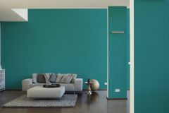 36696-5 cikkszámú tapéta.Egyszínű,különleges felületű,türkiz,lemosható,illesztés mentes,papír tapéta