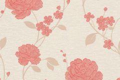 36701-1 cikkszámú tapéta.Csillámos,virágmintás,bézs-drapp,narancs-terrakotta,lemosható,papír tapéta
