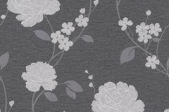 36701-2 cikkszámú tapéta.Csillámos,virágmintás,ezüst,szürke,lemosható,papír tapéta