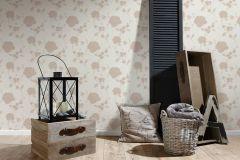 36701-4 cikkszámú tapéta.Csillámos,virágmintás,bézs-drapp,fehér,lemosható,papír tapéta
