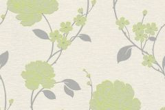 36701-5 cikkszámú tapéta.Csillámos,virágmintás,ezüst,fehér,szürke,zöld,lemosható,papír tapéta