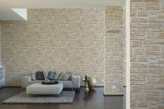 6621-25 cikkszámú tapéta.Konyha-fürdőszobai,kőhatású-kőmintás,különleges felületű,bézs-drapp,fehér,vajszín,lemosható,papír tapéta