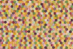37463-1 cikkszámú tapéta.Absztrakt,textilmintás,narancs-terrakotta,piros-bordó,zöld,súrolható,vlies tapéta