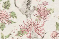 37464-2 cikkszámú tapéta.állatok,fehér,pink-rózsaszín,zöld,súrolható,vlies tapéta