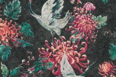 37464-3 cikkszámú tapéta.állatok,fekete,narancs-terrakotta,pink-rózsaszín,súrolható,vlies tapéta
