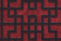 37465-2 cikkszámú tapéta.3d hatású,absztrakt,fekete,piros-bordó,súrolható,vlies tapéta