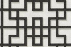 37465-3 cikkszámú tapéta.3d hatású,absztrakt,fehér,fekete,súrolható,vlies tapéta