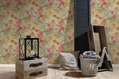 37466-1 cikkszámú tapéta.Különleges motívumos,természeti mintás,narancs-terrakotta,pink-rózsaszín,zöld,súrolható,vlies tapéta