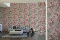 37466-2 cikkszámú tapéta.Különleges motívumos,természeti mintás,bézs-drapp,pink-rózsaszín,szürke,súrolható,vlies tapéta