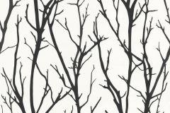 2683-41 cikkszámú tapéta.Absztrakt,fa hatású-fa mintás,különleges motívumos,rajzolt,retro,természeti mintás,fehér,fekete,lemosható,vlies tapéta