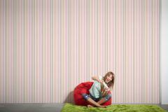 30288-1 cikkszámú tapéta.Csíkos,dekor tapéta ,gyerek,különleges felületű,retro,bézs-drapp,fehér,narancs-terrakotta,pink-rózsaszín,lemosható,illesztés mentes,vlies tapéta