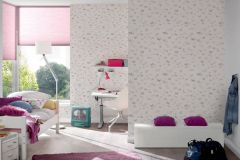 30289-1 cikkszámú tapéta.állatok,dekor tapéta ,gyerek,különleges felületű,rajzolt,bézs-drapp,fehér,lila,pink-rózsaszín,lemosható,illesztés mentes,vlies tapéta