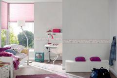 30290-1 cikkszámú tapéta.Csíkos,gyerek,fehér,pink-rózsaszín,szürke,vlies bordűr