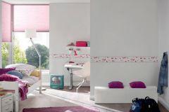 30290-2 cikkszámú tapéta.Csíkos,gyerek,pink-rózsaszín,piros-bordó,szürke,vlies bordűr