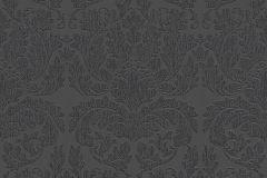 30396-5 cikkszámú tapéta.Barokk-klasszikus,különleges felületű,különleges motívumos,virágmintás,fekete,szürke,lemosható,vlies tapéta