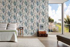 30456-1 cikkszámú tapéta.Különleges felületű,rajzolt,retro,természeti mintás,virágmintás,kék,szürke,zöld,lemosható,vlies tapéta