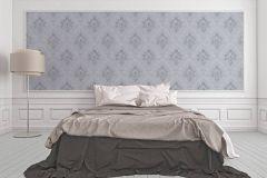 33924-3 cikkszámú tapéta.Egyszínű,különleges felületű,különleges motívumos,rajzolt,textil hatású,szürke,lemosható,vlies tapéta