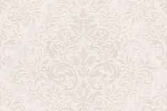 33924-5 cikkszámú tapéta.Barokk-klasszikus,különleges felületű,különleges motívumos,rajzolt,virágmintás,bézs-drapp,fehér,lemosható,vlies tapéta