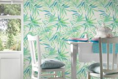 34125-1 cikkszámú tapéta.Különleges felületű,rajzolt,retro,természeti mintás,fehér,kék,szürke,zöld,lemosható,vlies tapéta