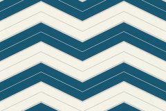 34242-4 cikkszámú tapéta.3d hatású,absztrakt,dekor tapéta ,egyszínű,geometriai mintás,különleges felületű,különleges motívumos,rajzolt,retro,ezüst,fehér,kék,lemosható,vlies tapéta