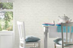 9078-51 cikkszámú tapéta.Csíkos,konyha-fürdőszobai,kőhatású-kőmintás,különleges felületű,rajzolt,retro,fehér,szürke,vajszínű,lemosható,vlies tapéta