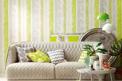94425-1 cikkszámú tapéta.Absztrakt,csíkos,dekor tapéta ,különleges felületű,rajzolt,retro,fehér,szürke,zöld,lemosható,illesztés mentes,vlies tapéta