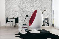 9448-25 cikkszámú tapéta.Absztrakt,dekor tapéta ,különleges felületű,különleges motívumos,rajzolt,fehér,fekete,lemosható,illesztés mentes,vlies tapéta