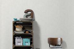 95262-1 cikkszámú tapéta.Absztrakt,különleges felületű,különleges motívumos,retro,ezüst,fehér,súrolható,illesztés mentes,vlies tapéta