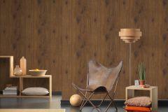 30043-1 cikkszámú tapéta.Dekor tapéta ,fa hatású-fa mintás,különleges felületű,barna,súrolható,illesztés mentes,vlies tapéta
