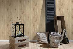 30043-4 cikkszámú tapéta.Dekor tapéta ,fa hatású-fa mintás,különleges felületű,bézs-drapp,vajszín,súrolható,illesztés mentes,vlies tapéta