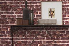 30682-1 cikkszámú tapéta.3d hatású,kőhatású-kőmintás,különleges felületű,barna,lila,narancs-terrakotta,pink-rózsaszín,piros-bordó,vajszín,súrolható,vlies tapéta