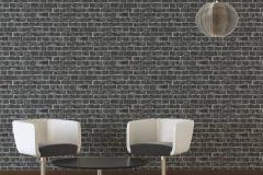 30682-2 cikkszámú tapéta.3d hatású,kőhatású-kőmintás,különleges felületű,ezüst,fekete,szürke,súrolható,vlies tapéta