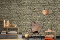 30722-1 cikkszámú tapéta.3d hatású,kőhatású-kőmintás,különleges felületű,barna,bézs-drapp,szürke,vajszín,zöld,súrolható,vlies tapéta