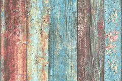 30723-1 cikkszámú tapéta.Dekor tapéta ,fa hatású-fa mintás,különleges felületű,barna,kék,narancs-terrakotta,pink-rózsaszín,piros-bordó,súrolható,illesztés mentes,vlies tapéta