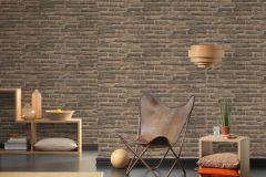30747-2 cikkszámú tapéta.3d hatású,absztrakt,kőhatású-kőmintás,különleges felületű,barna,bézs-drapp,szürke,súrolható,vlies tapéta