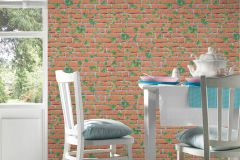 31942-2 cikkszámú tapéta.3d hatású,kőhatású-kőmintás,különleges felületű,természeti mintás,narancs-terrakotta,szürke,zöld,lemosható,vlies tapéta