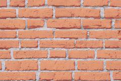 31943-2 cikkszámú tapéta.3d hatású,kőhatású-kőmintás,különleges felületű,narancs-terrakotta,szürke,lemosható,vlies tapéta