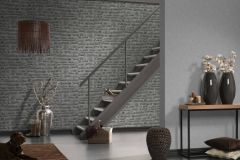 31944-2 cikkszámú tapéta.3d hatású,absztrakt,kőhatású-kőmintás,különleges felületű,szürke,súrolható,vlies tapéta