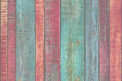 31993-1 cikkszámú tapéta.Dekor tapéta ,fa hatású-fa mintás,különleges felületű,barna,kék,narancs-terrakotta,pink-rózsaszín,türkiz,zöld,súrolható,illesztés mentes,vlies tapéta